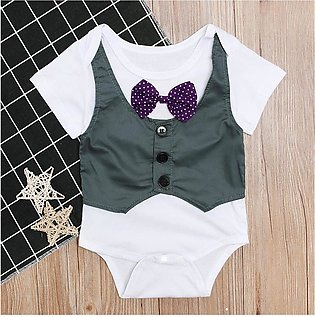 ✫Good Quality✫ Infant Newborn Baby Boy Kid Girl Jumpsuit Jacket Gentry Rompers …