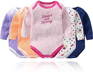 5Pcs/Set Baby Long Sleeve Rompers Cotton Jumpsuit Sleepwear for 9-24 Month Newb…