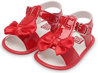 Summer Patent Leather Bowknot Sandals Walking Shoes Soft Sole Baby Shoes
