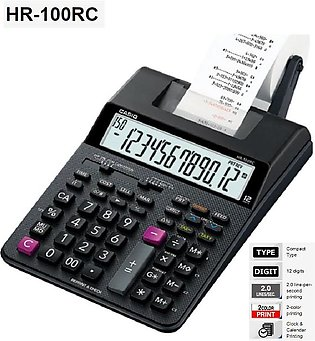 Casio HR100RC Printing Calculator Black