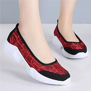 Fashion Women Outdoor Linen Casual Sport Shoes Runing Breathable Sneakers