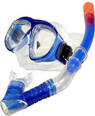 Blue Swimming Goggles with Snorkel Set