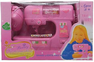 Delight Sewing Machine Toy For Girls From Beauty Sartorius For Girls Pink color