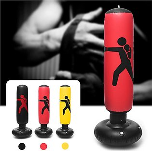 【To Global】160cm PVC Inflatable Boxing Punching Bag Standing Home Gym Fitness T…