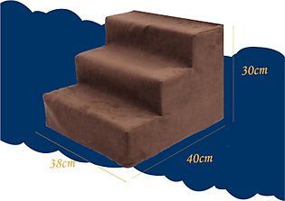 Folding Portable 2-Steps Dog Cat Pet Stairs Ramp Ladder Leather Cover Sofa Bed#…