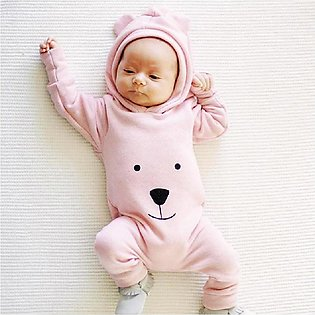 2019 Newborn Infant Baby Boy Girl Hooded Cartoon Romper Jumpsuit Outfits Clothes