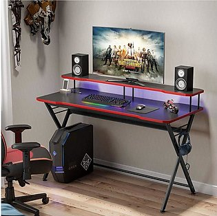 58 inch Large Gaming Desk Ergonomic PC Gaming Table Gamer Computer Desk with Mo…