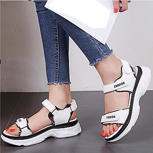 Women Sandals Casual Sports Sandals Flats Thick-Soled Beach Shoes Open Toe Shoes