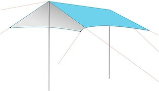 300x290cm Portable Beach Camping Tent UV Protection Outdoor Picnic Canopy Shade