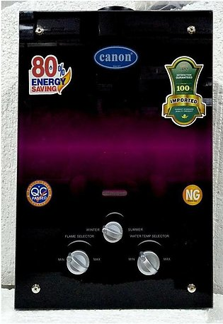 Canon Instant Geyser Gas - 6 Liter - Ultra low water-pressure start system Black