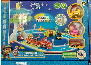 Paw Patrol Lookout Playset Track Toy - Electric Orbital Rescue Train Track - wi…