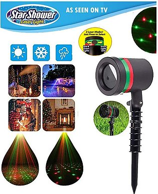 Shower Star Laser Stage Light Outdoor Party Wedding Decor, 15W Red & Green