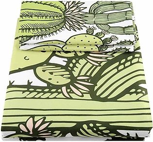 Fashion Cactus Printing Duvet Quilt Cover Pillowcase Bedding Set