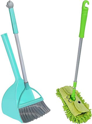 Kids Housekeeping Cleaning Tools, 3 Pcs Small Mop Small Broom Small Dustpan, Li…