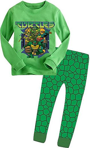 Boy Long Sleeve Cartoon Ninja Turtle Home Clothes Set Children'S Clothing Baby …
