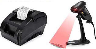 POS Bundle Barcode Scanner Thermal Printer With Free Software