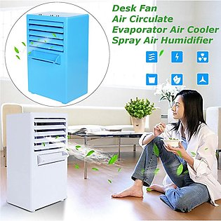Portable Mini Table Air Conditioning Fan Air Evaporation Cooling Humidifier Spr…