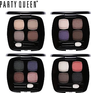 Party Queen Nude Color Quad Eyeshadow Palette With Mirror Brush Makeup Glitter …