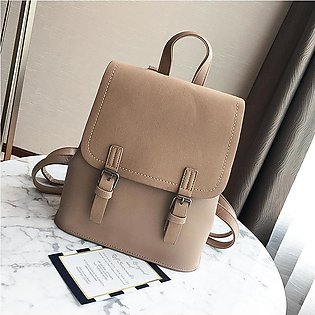 Pu Leather Korean Pure Color Girl Backpack Popular Female Color Bag Luxury Hand…