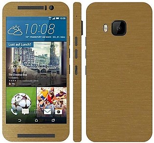 HTC ONE M9 Golden Brushed Metal Texture Mobile Skin