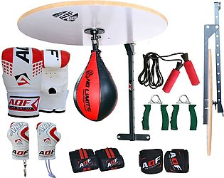 Speed Ball Stand complete with hand grip Jumping rope Bag mitt
