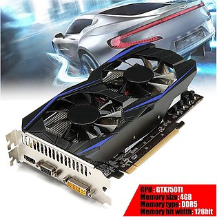 GTX750TI 4GB DDR5 128Bit Game Graphics Card HDMI With Cooling Fans For NVIDIA