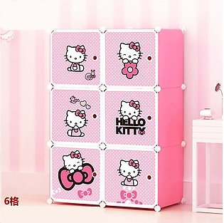 Portable Diy 6 Cubes Wardrobe, Cabinet , Shoe Rack, Book Rack, Multi Purpose Or…