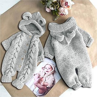 ✫Good Quality✫ Newborn Infant Baby Girl Boy Winter Warm Coat Knit Outwear Hoode…