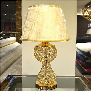 Gold Crystal Table Lamp (Pair) - Imported