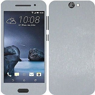 HTC One A9 Brushed Metal Texture Mobile Skin - Silver