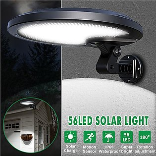 Night Sensor Solar Light Motion LED Flood Lamp Indoor Outdoor Garden Wall Yard