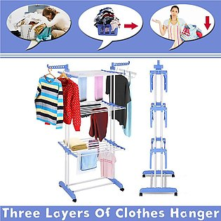 3 Layers of Clothes Hanger Clothes Line and Drying Racks Cloth Stand Adjustable…