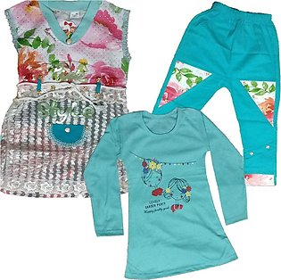 Baby Girl Frock With 3 pcs