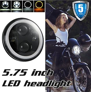 "Black 5-3/4"" 5.75 Inch LED Motorcycle Headlight High Low For Motorcycle LED Pro…"