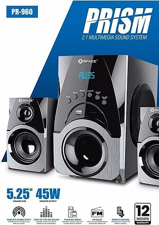 PR-960 2.1 Multimedia Sound System-Bluetooth