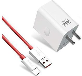 Oneplus 7T charger Original 30W warp charger Power adapter Type-C Cable 5V 6A m…