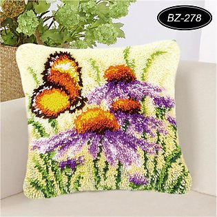 7 Types DIY Flowers Cross Stitch Pillow Case Embroidery Cushion Cover Home Deco…