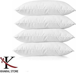 High Quality White Pillow (Pack of 4) filled with Imported Ball Fiber Polyester