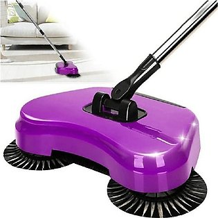 Tornado Spin Broom Sweeper - Purple