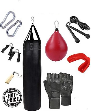 Yoga gym Bag deal Punching bag sand bag with chain gum mouth guards rope grip g…