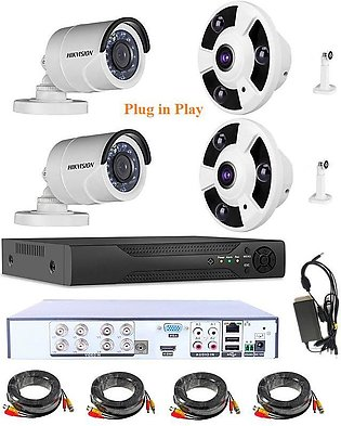 Hikvision Turbo HD  720P 4 Channel CCTV Camera Kit