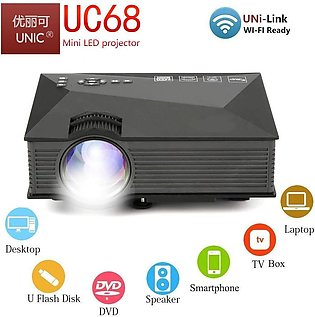 UNIC UC68 FullHD LED WiFi Projector with Free HDMI Cable, 1800 lumi/Airplay/Mir…
