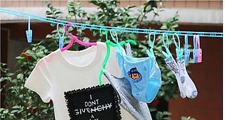 Non-slip Clothesline 5 Meters Clotheslines Dryer Outdoor Cloth Hanging Rope Win…
