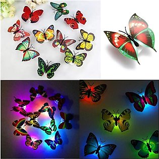 Pack of 3 Colorful Changing Butterfly LED Night Light Lamp Home Room Party Desk…