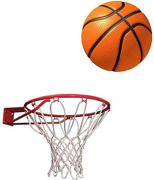 Basket Ball with Net - Orange