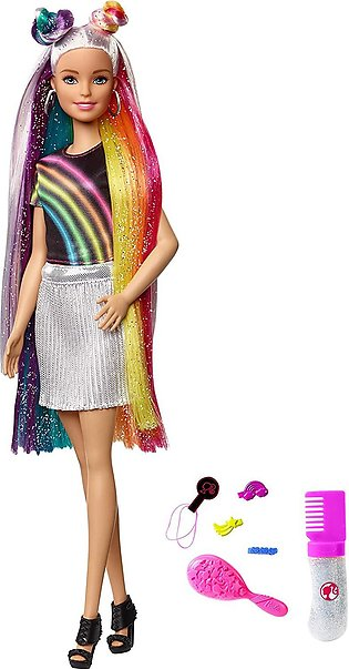 Barbie Rainbow Sparkle Hair Doll