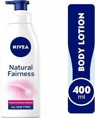 NIVEA Body Lotion Natural Fairness, Body Care Liquorice & Berry Extracts, Dry...