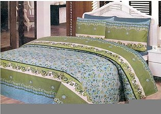 Daffodils Green Pack Of 2 Single Bed Sheets
