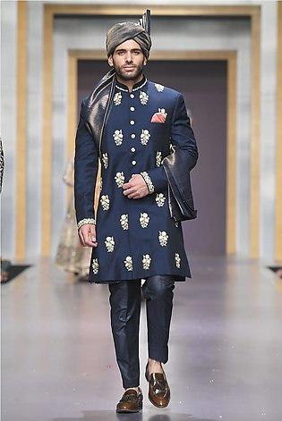 Short black sherwani