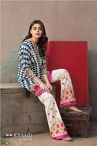 Khaadi Collection Fabric Lawn Heavy Embroidry Front Daman Embroidry Patch - R...